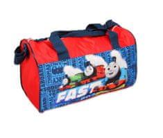 SETINO Dětská sportovní taška vláček Tomáš - červená - 22x38x20cm