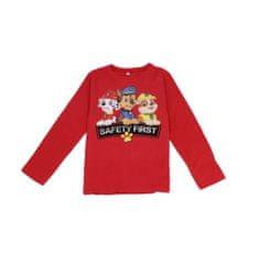SETINO Chlapčenské tričko s dlhým rukávom Paw Patrol - červená