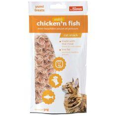 LES FILOUS MINI CHICKEN'N FISH 50g jutalomfalatok csirkehússal és hallal macskáknak
