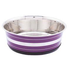 LES FILOUS Heavy Striped Bowls w/ Removable Rubber Ring, 0,40L, 11,5cm