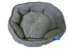 Petproducts Kulatý šedý pelech pro psy - 57x52x14 cm