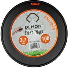Demon Struna zesílená, čtvercový profil, 100m, 2,7mm DEMON M84127