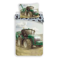 Jerry Fabrics Ágyneműhuzat Traktor, zöld