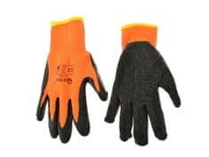 GEKO Pracovní zimní rukavice vel. 8 oranžové