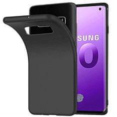 Maska za Samsung Galaxy S10 Plus, silikonska, mat crna