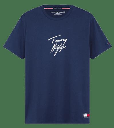 Tommy Hilfiger UM0UM01787 CN SS Tee Logo férfi póló, S, sötétkék
