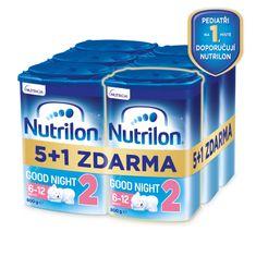 Nutrilon 2 Good Night pokračovací kojenecké mléko 6x 800 g, 6+