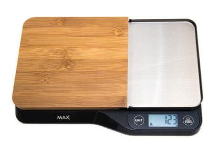 MAX MKS1501B digitalna kuhinjska tehtnica z odstranljivo rezalno desko