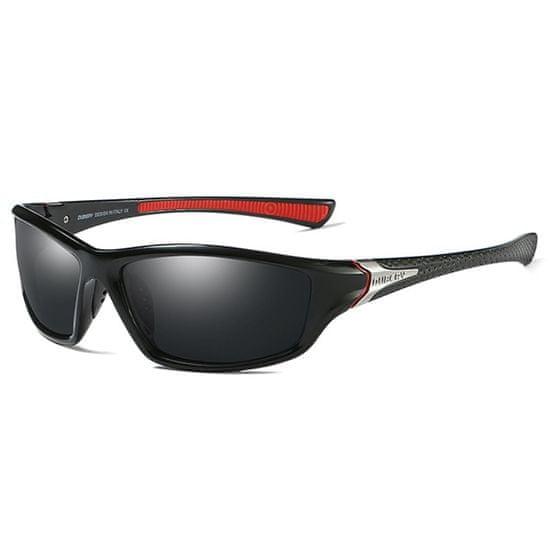 Dubery George 1 slnečné okuliare, Black & Silver / Black