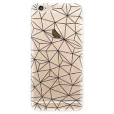 iSaprio Silikónové puzdro - Abstract Triangles 03 - black pre Apple iPhone 6
