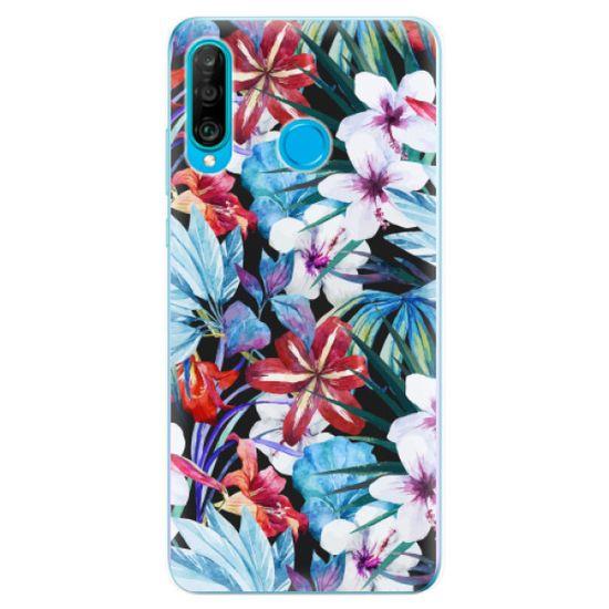 iSaprio Silikónové puzdro - Tropical Flowers 05 pre Huawei P30 Lite