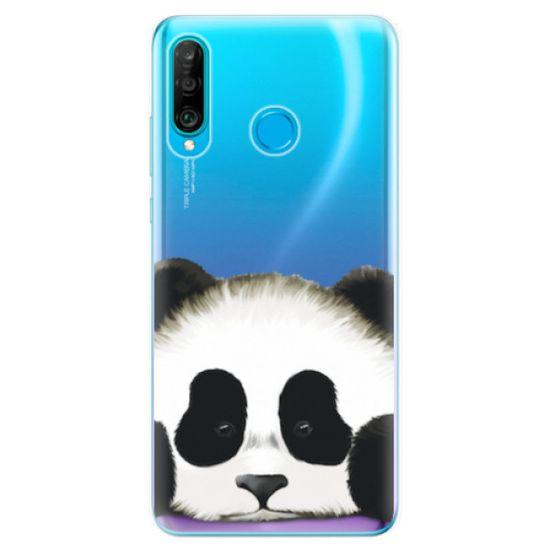 iSaprio Silikónové puzdro - Sad Panda pre Huawei P30 Lite