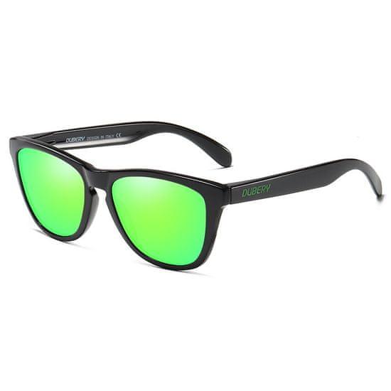 Dubery Mayfield 2 slnečné okuliare, Bright Black / Green