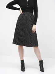 Haily´s černá puntíkovaná plisovaná sukně Leah