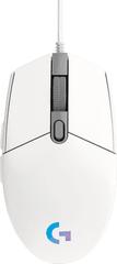 Logitech mysz komputerowa G102 Lightsync, biała (910-005824)