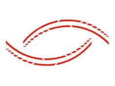 Foliatec samolepící linka na obvod kola RACING - neonová červená