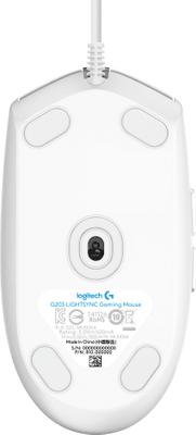 Herní myš Logitech G203 Lightsync, bílá (910-005797) kabelová 16 000 DPI programovatelná tlačítka