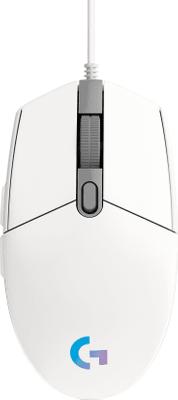 Herní myš Logitech G203 Lightsync, bílá (910-005797) senzor 8 000 DPI