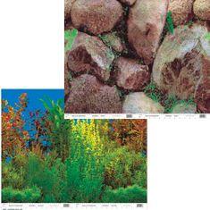 PENN PLAX Akvárium háttér kétoldalas 60cm/15m Grassy Plant/Boulders