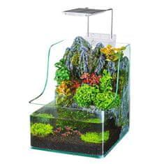 PENN PLAX AQUATERRIUM 7l s LED osvetlením a filtraciou pre ryby a rastliny