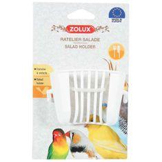 Zolux Plastové kŕmidlo pre vtáky na šalát 4,5x6,5x4,5cm
