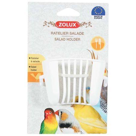 Zolux Műanyag etető madarak számára salátára 4,5x6,5x4,5cm