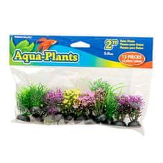 PENN PLAX Umelé rastliny Betta 5 cm farebné 12ks sada