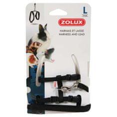 Zolux póráz és hám rágcsáloknak L fekete