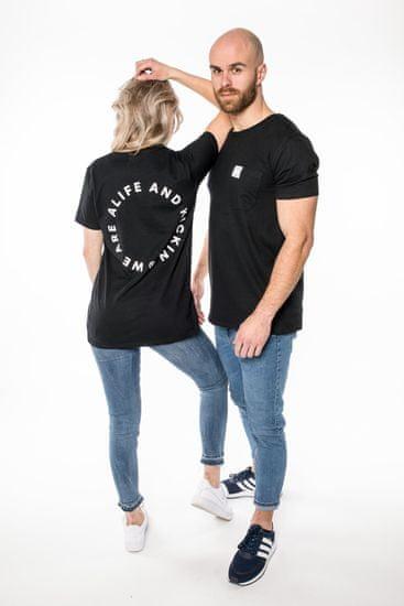 Alife and Kickin chlapčenské tričko Logo S čierna