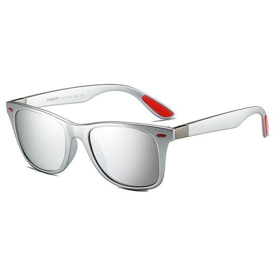 Dubery Columbia 8 slnečné okuliare, Silver / Silver