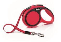 Flexi New Comfort XS pásek 3 m, max. 12 kg, červená
