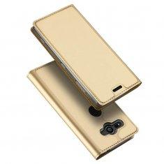 DUX Peňaženkový kryt Sony Xperia XZ2 zlatý