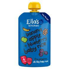 Ella's Kitchen Dětská rýže - Banán, jablko a borůvky 7 x 120g