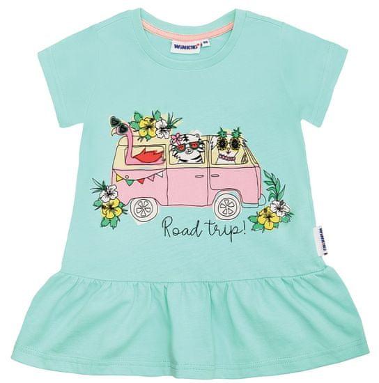 WINKIKI dievčenské tričko 104 světle zelená