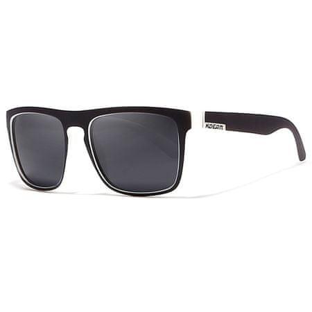 KDEAM Sunbury 20 sončna očala, Black & White / Black