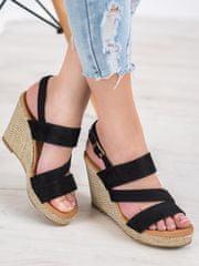 Stylomat Černé sandálky na klínku