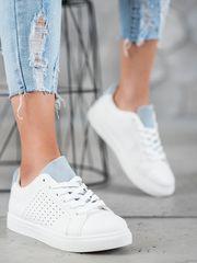 Stylomat Bílá obuv se semišovým jazykem