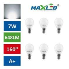 MAX-LED 10x LED žarnica – sijalka E14 7W (55W) nevtralno bela 4500K