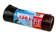 Alufix zatahovací odpadkové pytle HDPE černé 120 l 7 ks