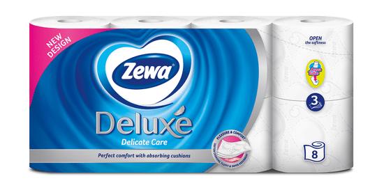 Zewa Deluxe Delicate Care toaletní papír 3-vrstvý, 8 rolí