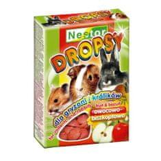Nestor BISCUIT DROPS 35g piškoty pro hlodavce ovocné