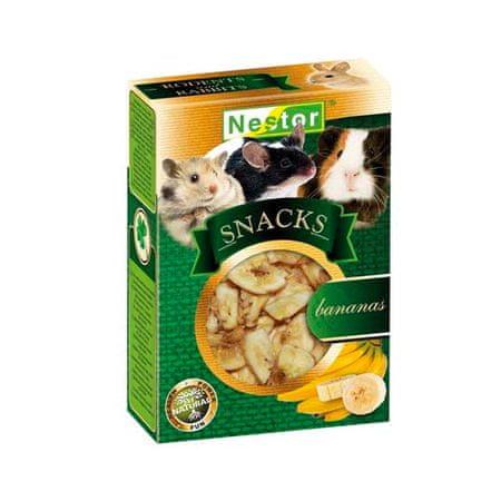 Nestor SNACKS for rodents and rabbits - Bananas 45g szárított banán