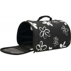 Zolux FLOWER Kisállathordozó táska M fekete 25x43,5x28,5 cm