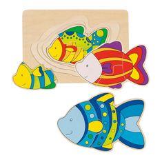 Goki Puzzle Ryba 4 vrstvy 11ks