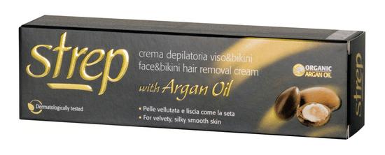 Strep depilační krém pro depilaci tváře a oblasti bikin s arganovým olejem 50 ml