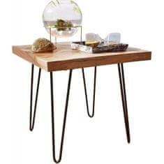 Bruxxi Odkladací stolík Herie, 50 cm, masív agát