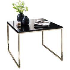 Bruxxi Odkladací stolík Bisa, 60 cm, čierna/zlatá