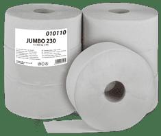 Primasoft Toaletní papír Jumbo 230 1-vrstvý šedý 1 role