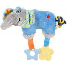 Zolux Elefánt plüss játék kölyökkutyáknak 27,5x8x20cm kék