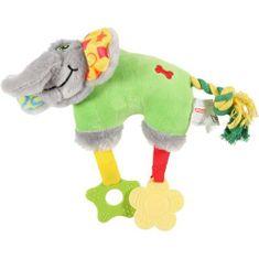 Zolux Elefánt plüss játék kölyökkutyáknak 27,5x8x20cm zöld